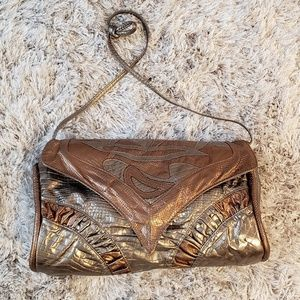 Vintage 80s  metallic purse
